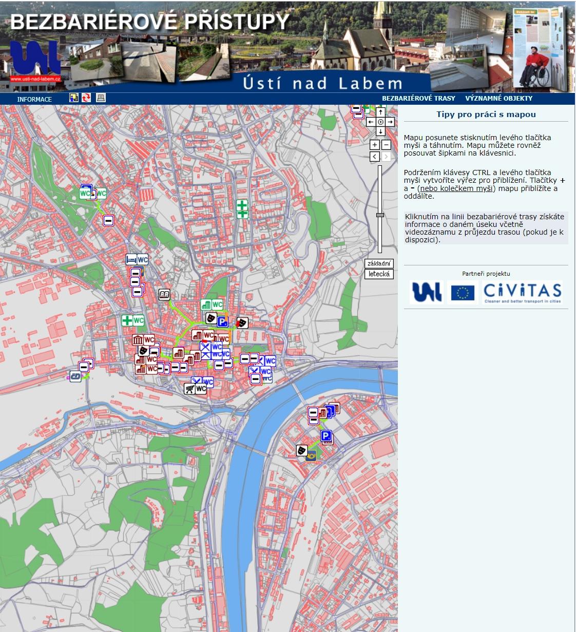 Bezbariérové přístupy města Ústí nad Labem